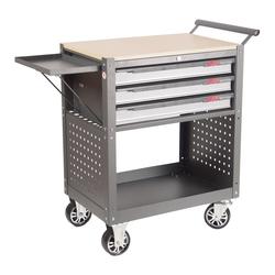 JTC 5516 Инструментальная тележка 3 секции JTC Мебель металлическая Сервисное оборудование